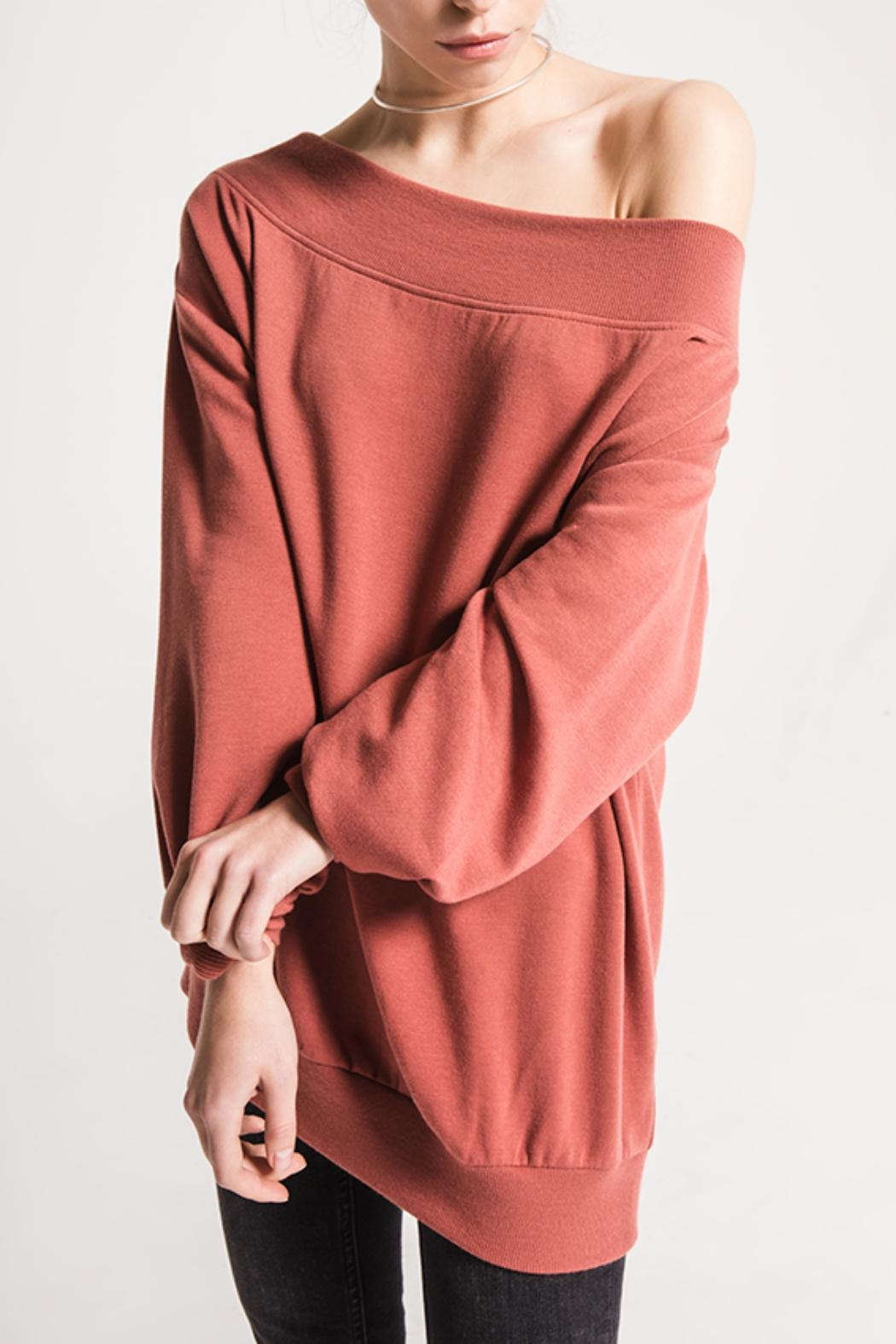 Others Follow  Off-The-Shoulder Comfy Sweater - Main Image