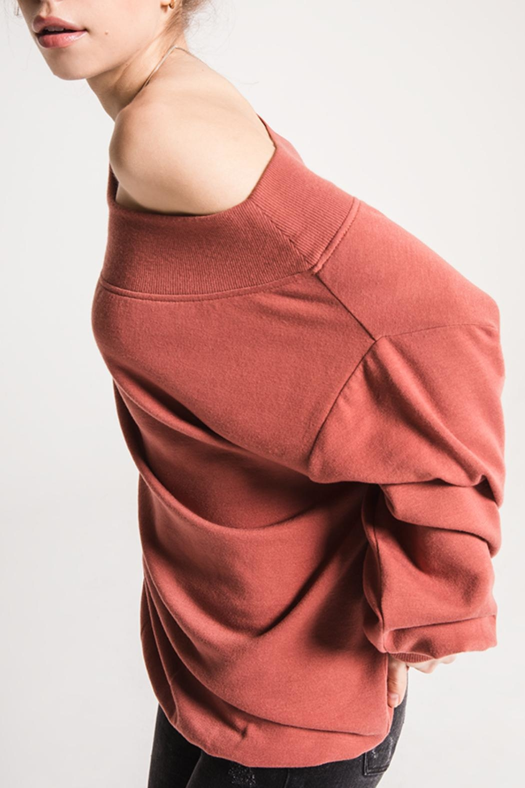 Others Follow  Off-The-Shoulder Comfy Sweater - Front Full Image