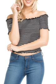 Heart & Hips Off-The-Shoulder Crop Top - Product Mini Image