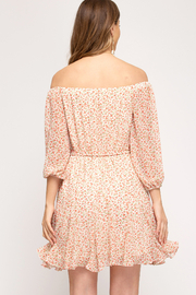 She and Sky Off the Shoulder Floral Dress - Front full body