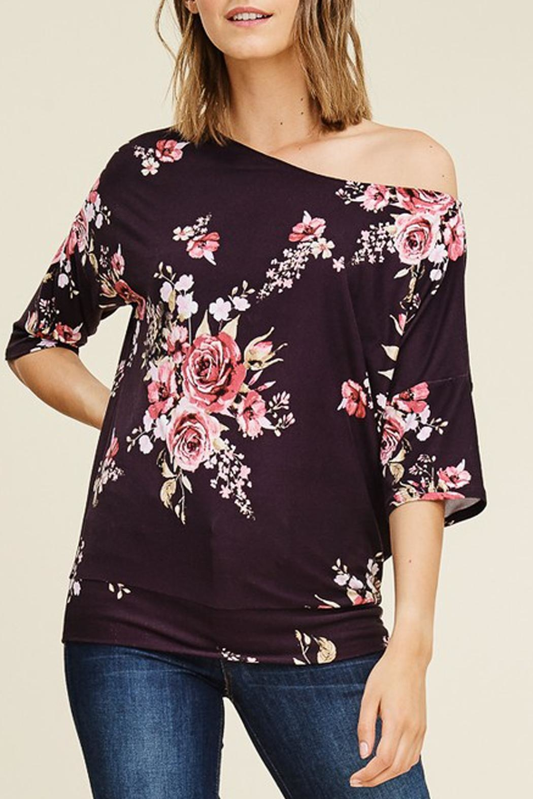White Birch Off-The-Shoulder Floral Top - Main Image