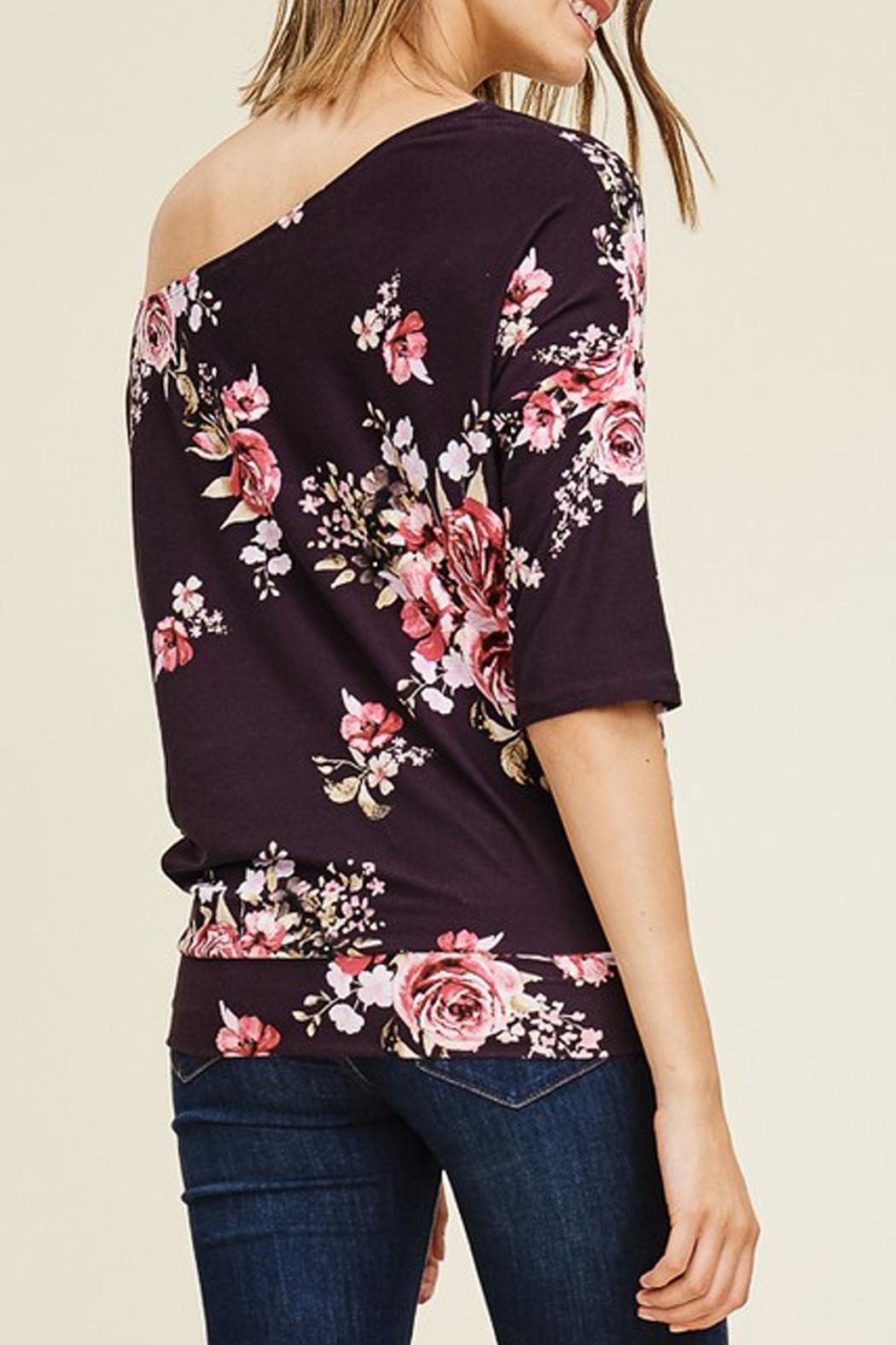 White Birch Off-The-Shoulder Floral Top - Front Full Image
