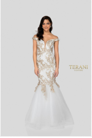Terani Couture Off the shoulder Gown - Product Mini Image