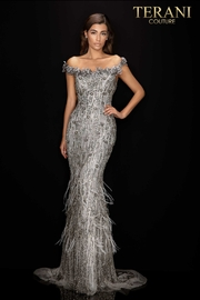 Terani Couture Off the Shoulder Gown - Front cropped