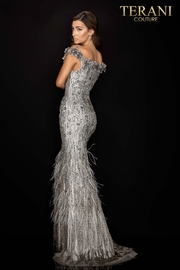 Terani Couture Off the Shoulder Gown - Front full body
