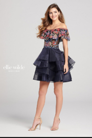 Ellie Wilde Off the Shoulder Homecoming Dress - Product Mini Image