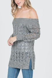 Cozy Casual Off the Shoulder Knitt Sweater - Product Mini Image