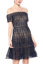 Monique Lhuillier Off The Shoulder Lace Cocktail Dress - Product Mini Image