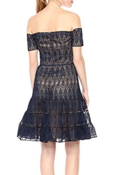 Monique Lhuillier Off The Shoulder Lace Cocktail Dress - Alternate List Image
