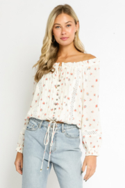 Olivaceous  Off The Shoulder Lilly - Product Mini Image
