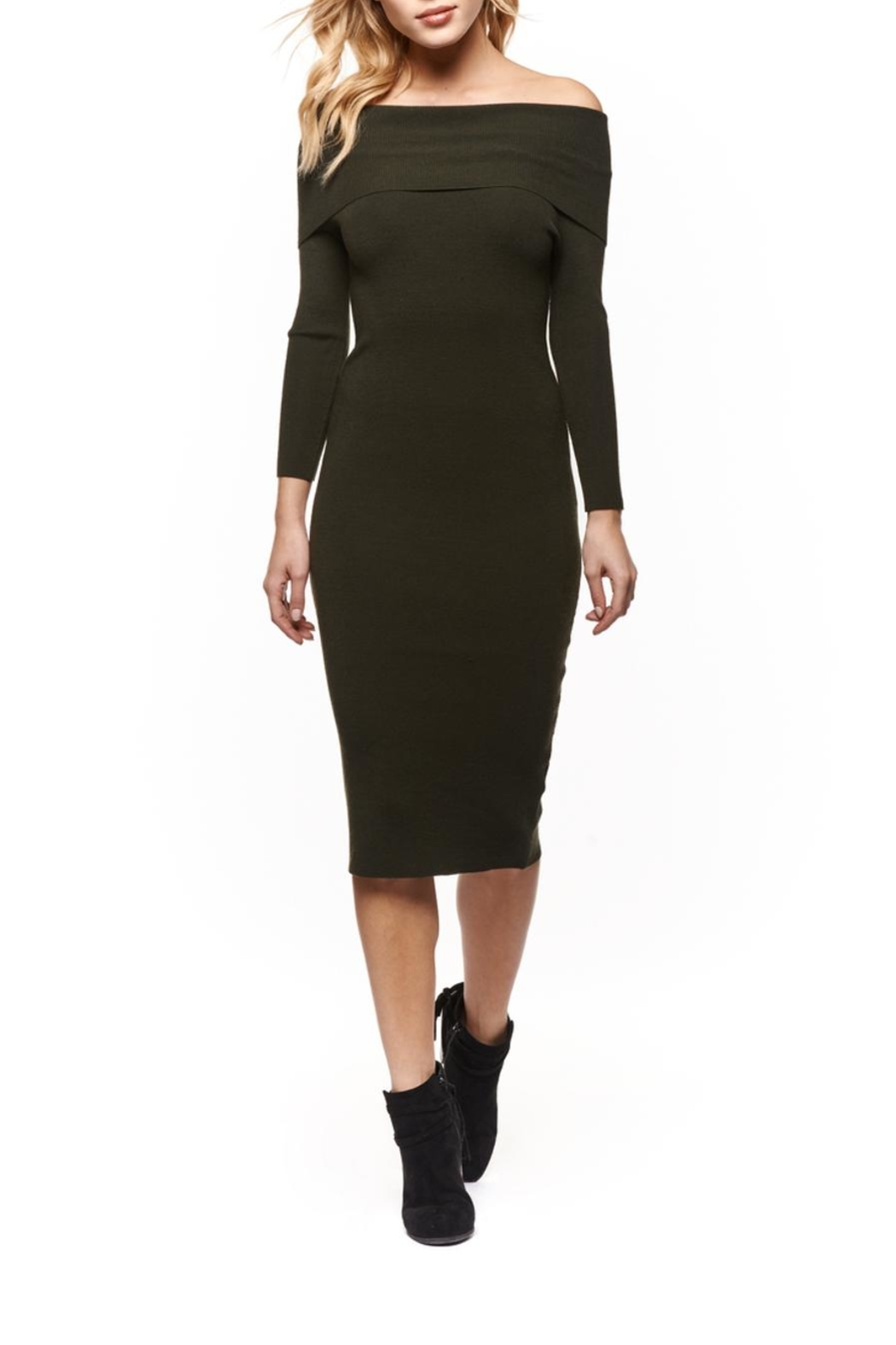 Dex Clothing Off-The-Shoulder Midi Dress - Main Image