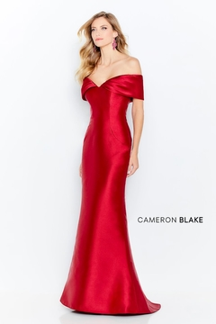 Cameron Blake Off-the-Shoulder Mikado Trumpet Gown - Product List Image