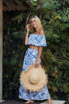Ocean Drive Off The Shoulder Palm Print Top - Product List Image