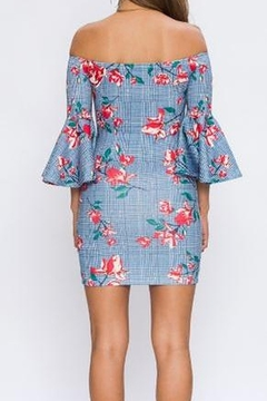 Flying Tomato Off The Shoulder Plaid and Floral Dress - Alternate List Image