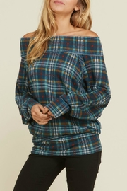 annabelle Off-The-Shoulder Plaid - Product Mini Image