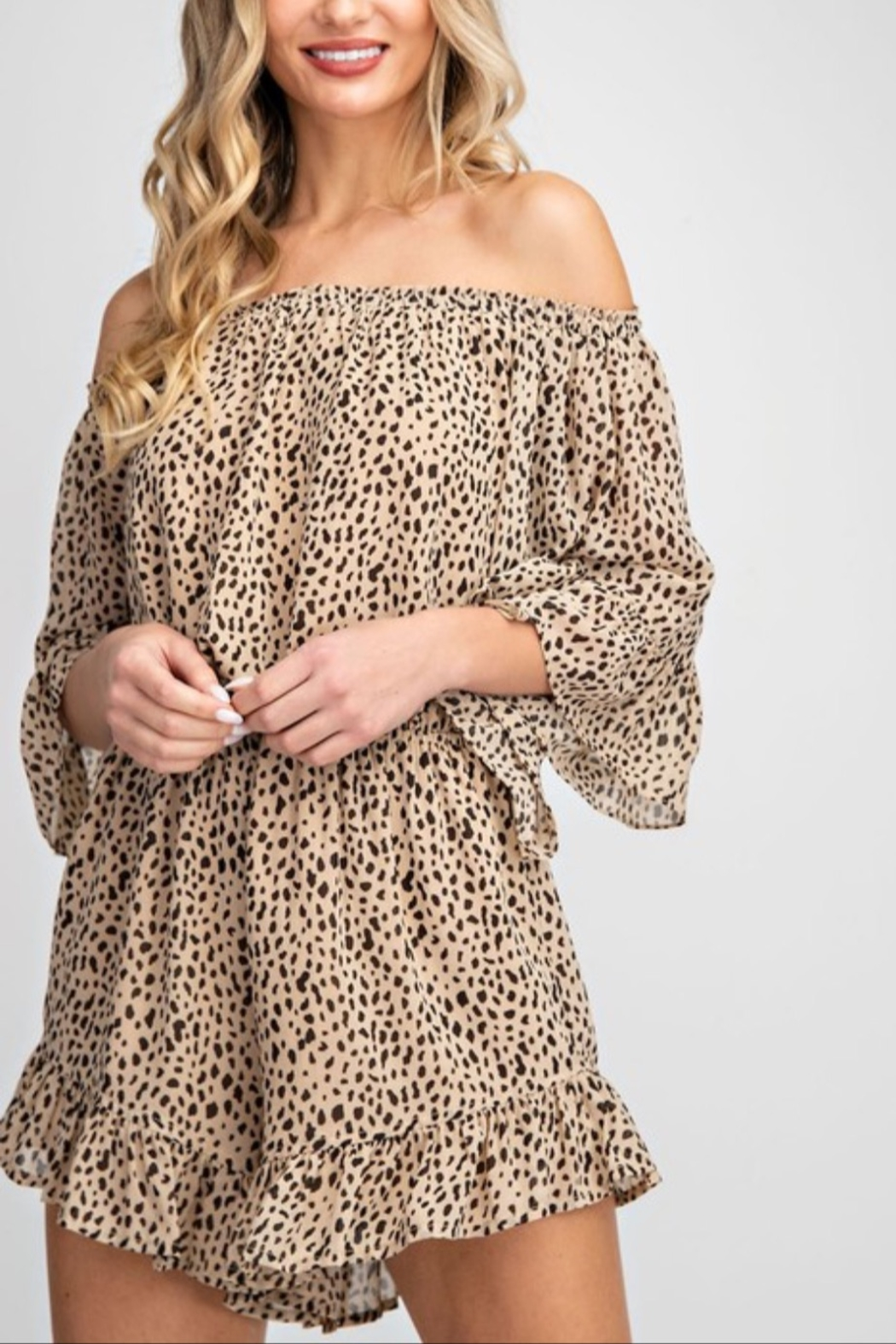 eesome Off The Shoulder Romper - Main Image