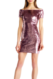 Aidan Mattox Off The Shoulder Sequin Dress - Product Mini Image