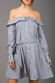 WREN & WILLA Off-The-Shoulder Shirt Dress - Product Mini Image