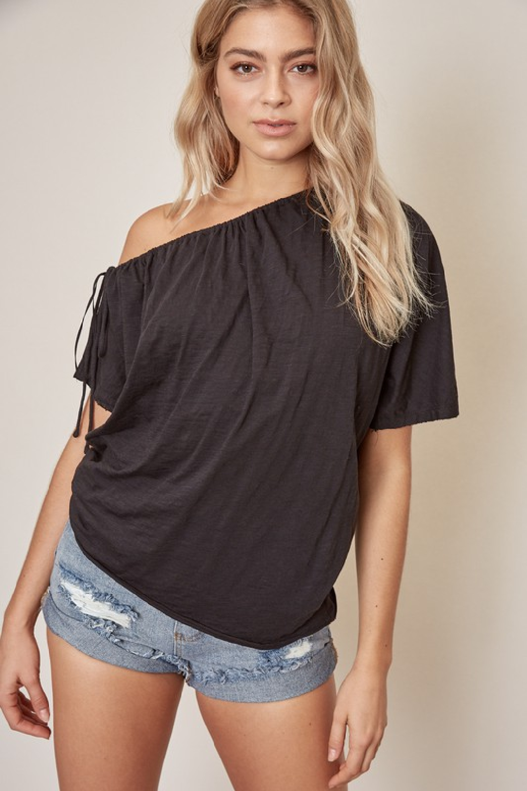 Mustard Seed One Shoulder Cotton Top - Main Image