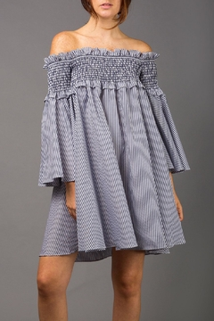 Shoptiques Product: Off-The-Shoulder Smocking Dress