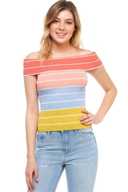 She + Sky Off-The-Shoulder Striped Top - Product Mini Image