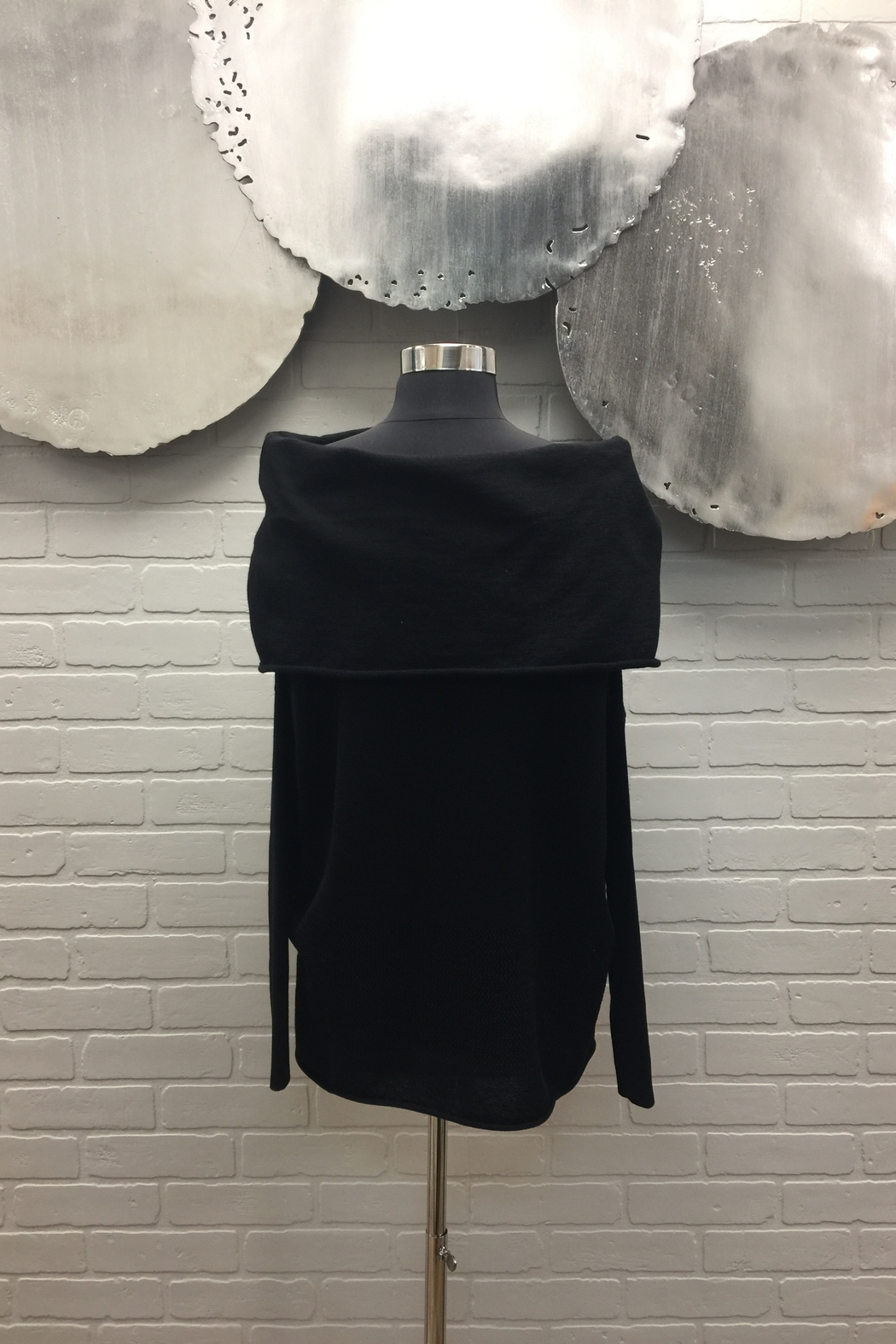 Planet Off The Shoulder Sweater - Front Full Image