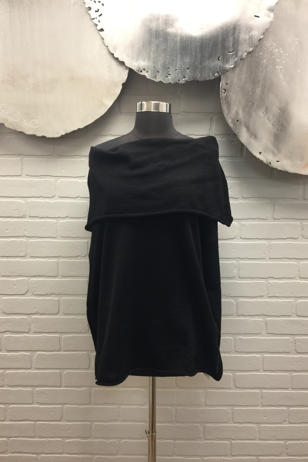Planet Off The Shoulder Sweater - Front Cropped Image