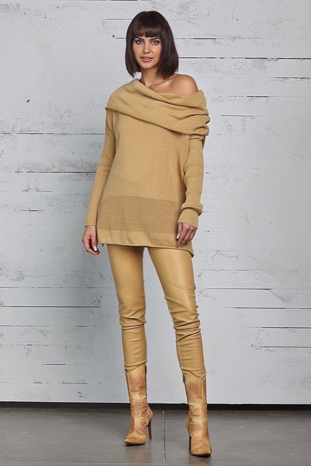 Planet Off The Shoulder Sweater - Main Image