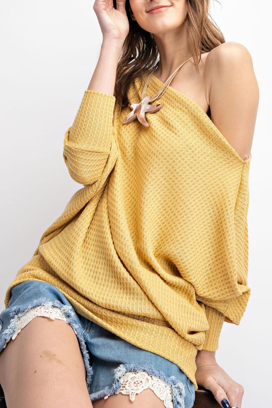 easel Off-The-Shoulder Thermal Tunic - Main Image