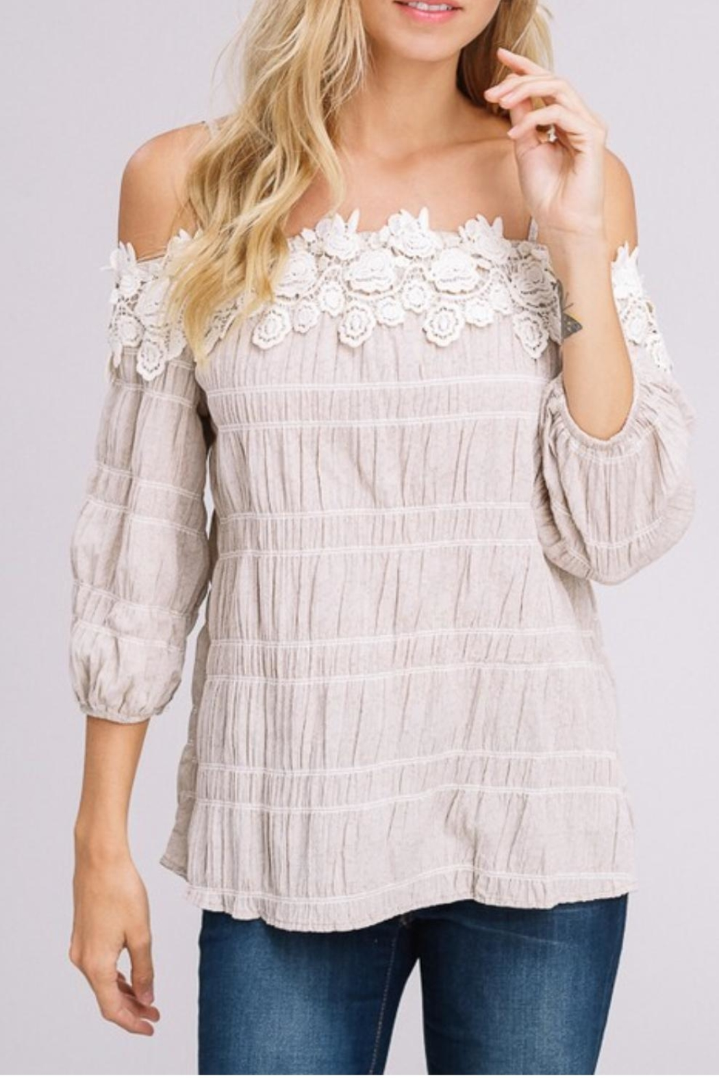 Gifted Off-The-Shoulder Top - Back Cropped Image