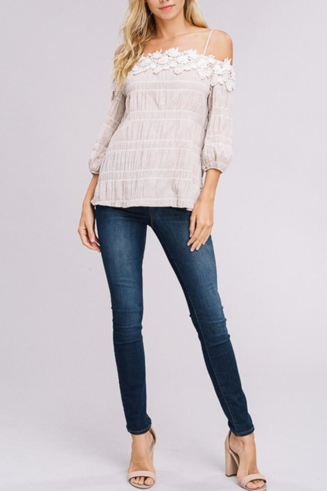 Gifted Off-The-Shoulder Top - Side Cropped Image
