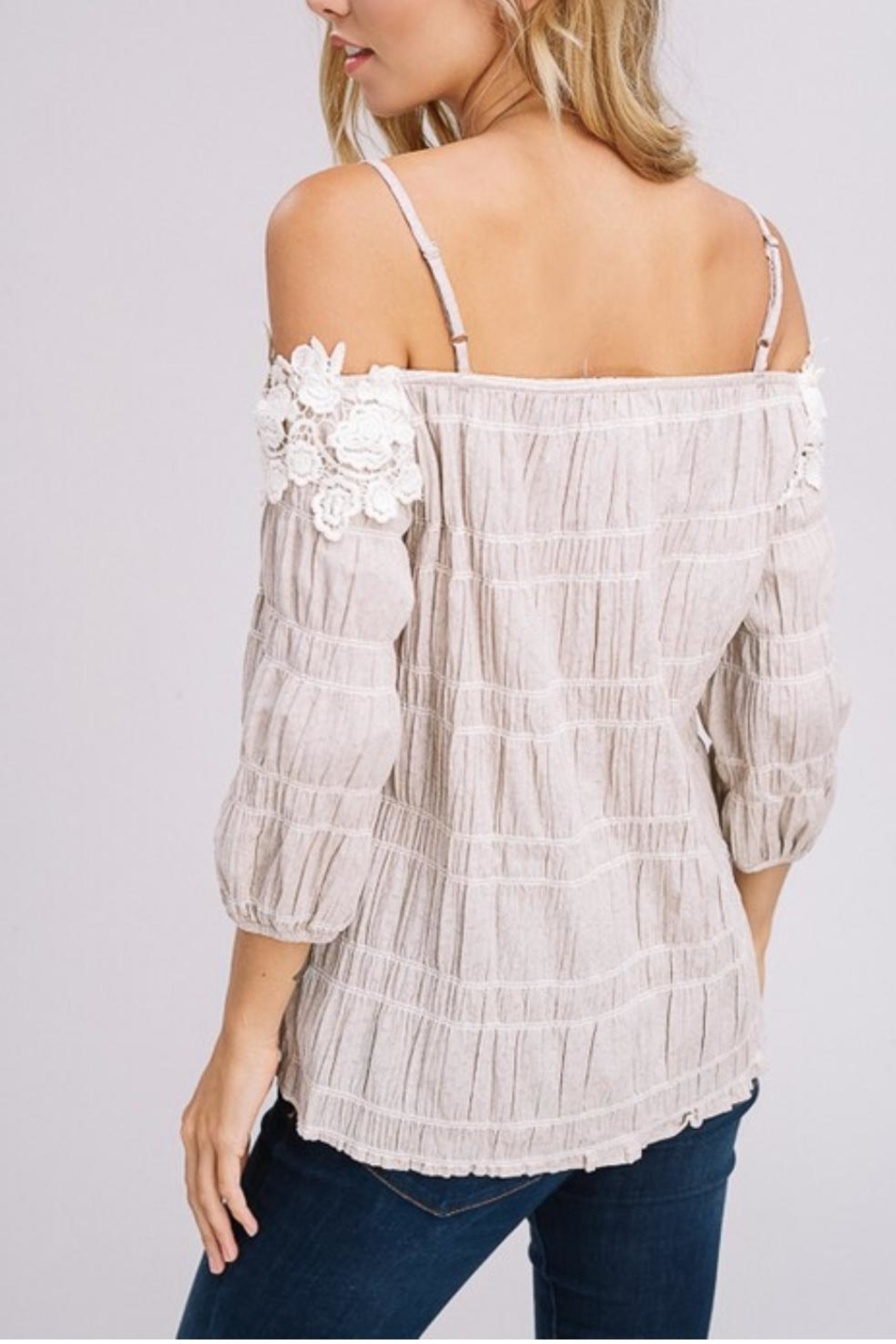 Gifted Off-The-Shoulder Top - Front Full Image