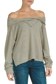 Elan Off the Shoulder Long Sleeve Top - Front cropped
