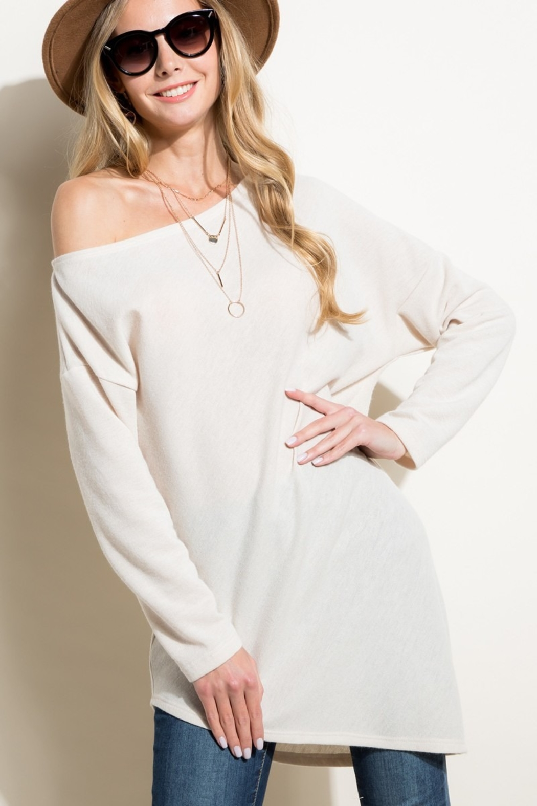 Sunglight Off the Shoulder Tunic - Main Image