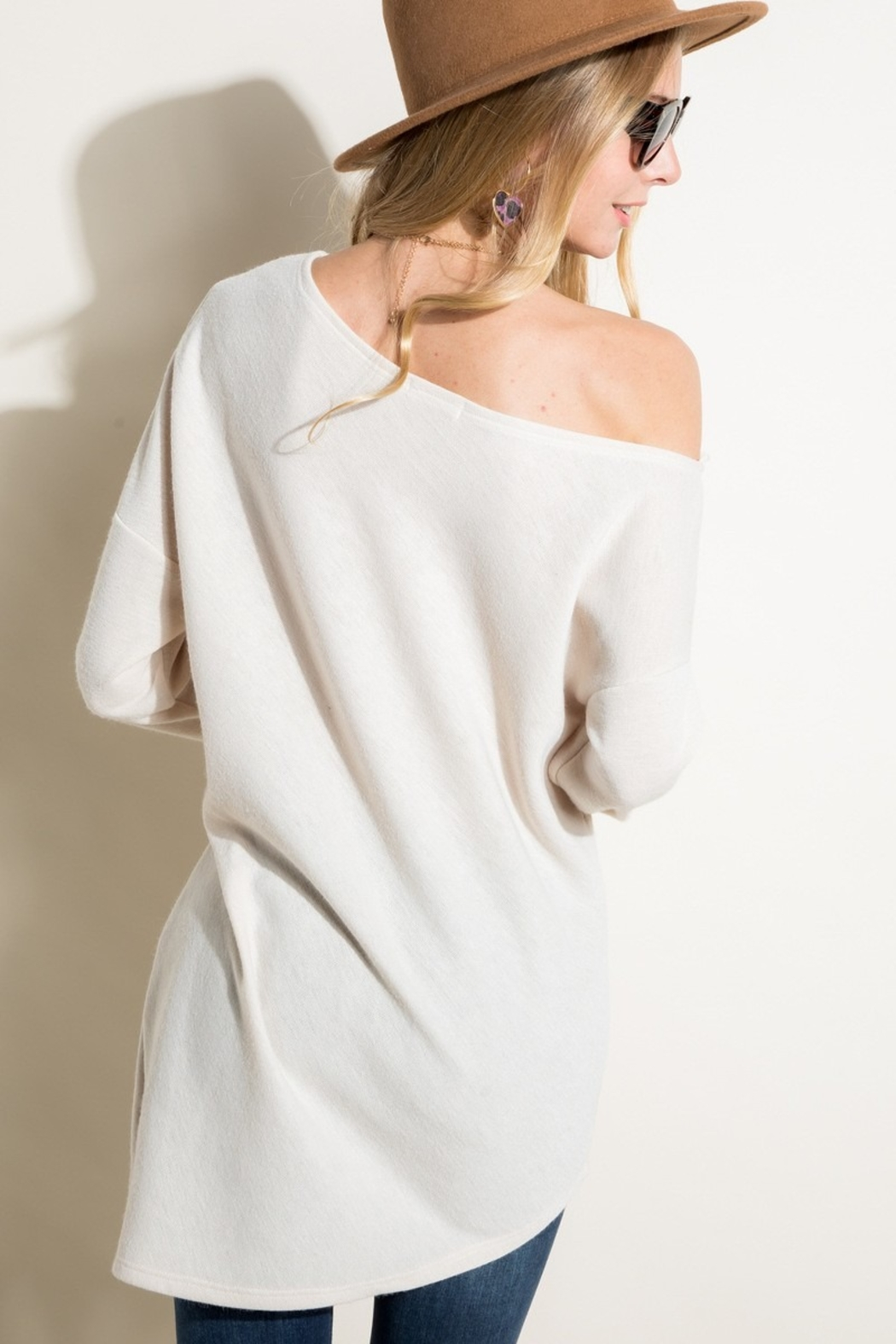 Sunglight Off the Shoulder Tunic - Front Full Image