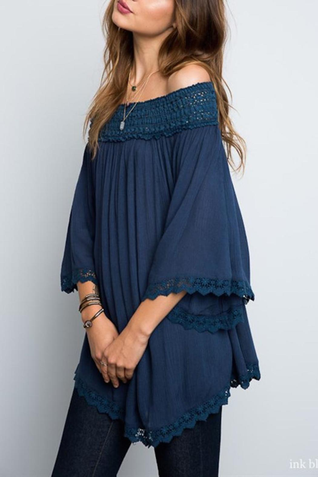 Kelly Fields Boutique Off The Shoulder Tunic Top From
