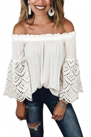 The Boutique Ooh Lala OFF THE SHOULDERS TOP - Product Mini Image