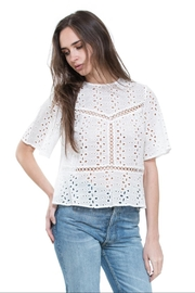 The Room Off-White Embo Top - Product Mini Image