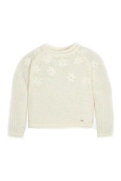 Shoptiques Product: Off-White-Embroidered-Daisy-Accent-Knit-Sweater