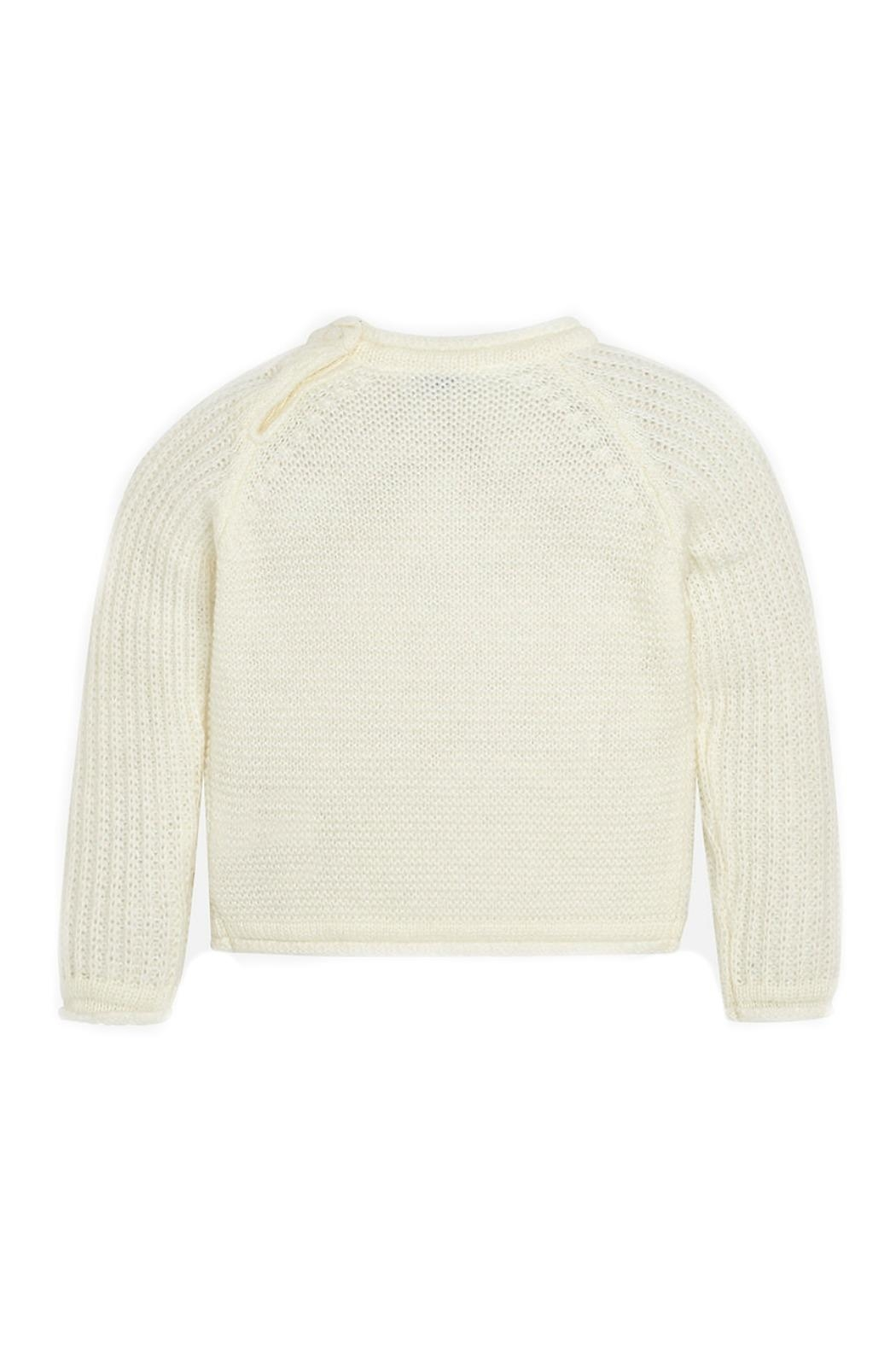 Mayoral Off-White-Embroidered-Daisy-Accent-Knit-Sweater - Front Full Image