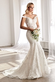 Cinderella Divine Off White Fit & Flare Floral Bridal Gown - Product Mini Image