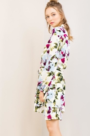 Compendium Off-White Floral Shirtdress - Front full body