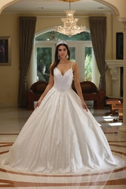 DANCING QUEEN Off White Glitter Bridal Ball Gown - Product Mini Image