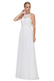 DANCING QUEEN Off White Halter A-Line Bridal Gown - Product Mini Image
