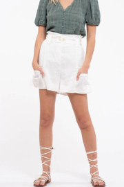 Moon River Off White High Waist Shorts - Product Mini Image