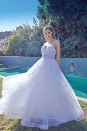 Juliet Off White Lace Bridal Ball Gown - Front cropped