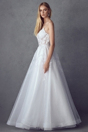 Juliet Off White Lace Bridal Ball Gown - Side cropped