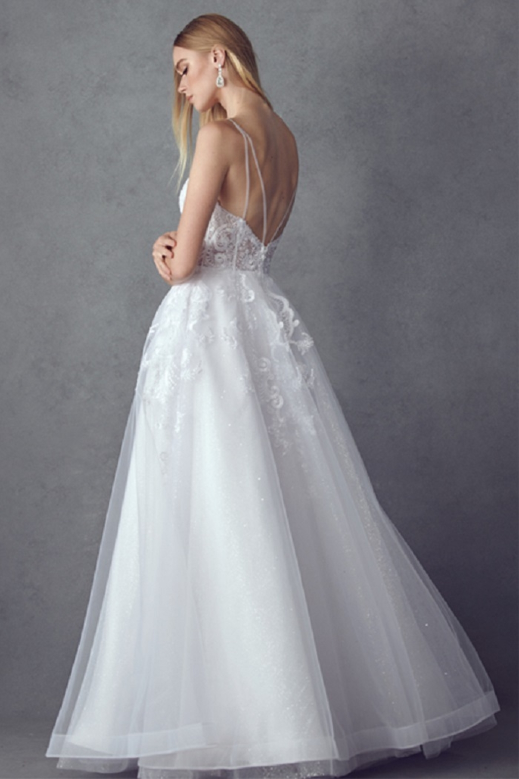 Juliet Off White Lace Bridal Ball Gown - Front Full Image