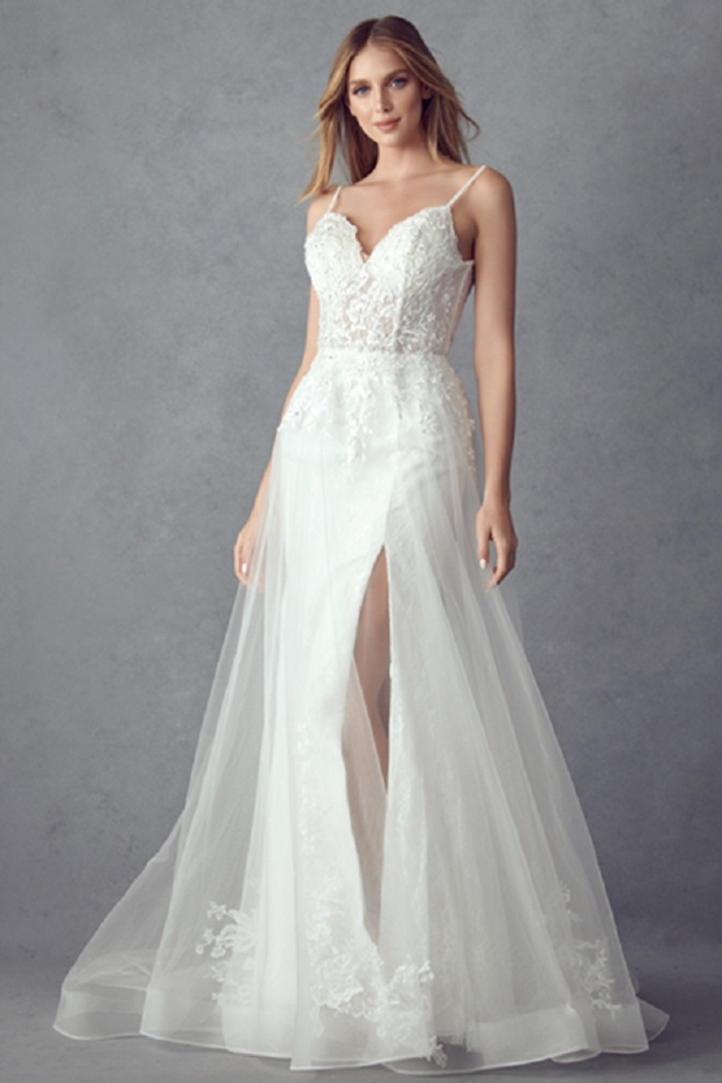 Juliet Off White Lace Bridal Gown - Main Image
