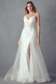 Juliet Off White Lace Bridal Gown - Front cropped